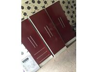 Set of 3 wardrobes. Good condition