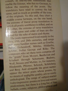 BOOK OF LIEDER 750 GERMAN SONGS and ENGLISH TEXT Dietrich Fisch West Island Greater Montréal image 3