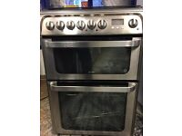 Hotpoint ultima duel fuel cook stainless steel top Gas and grill and oven electric for sale