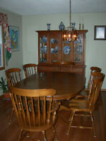 Dining Room Table Chairs and Hutch