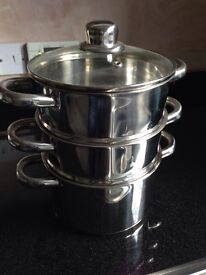3 tier steamer pans Stainless Steel