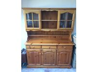 Dining room cabinet, classic in pine and glass