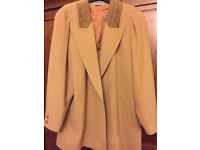 Vintage cashmere and wool camel coat size 16