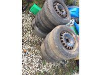8 4x100 steel wheels good tyres