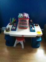 arts and crafts table with all your child will need