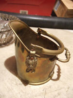 VINTAGE FIRE PLACE COPPER COAL SCUTTLE/BUCKET