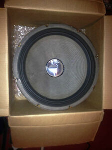"Two 15"" 8 ohm, 60s UTAH guitar-amplifier speakers, one in cab"