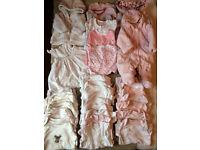Huge bundle of newborn baby girl clothes- 33 items