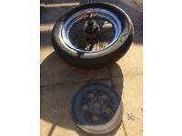 Sportster rear wheel