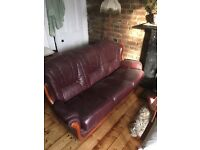 3 piece sofa, arm chair and foot stool