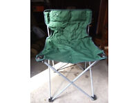 Pair folding camp chairs