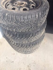 Winters tires and rims good for 2 season  $90