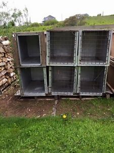 8 Large Dog / Animal Crates Cages - Heavy Duty Wood & Metal