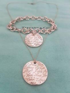Beautiful Tiffany & Co Round Notes Set! Bracelet and Necklace