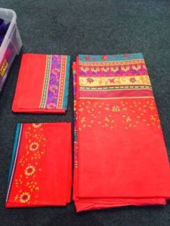 Various beautifully bright Queen sized quilt covers!