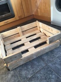 Personalised Pallet dog beds for sale on request