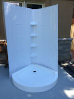 Deluxe Shower Base and Wall. New! New! NEW!