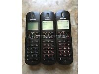 PHILIPS TRIO HOME TELEPHONES