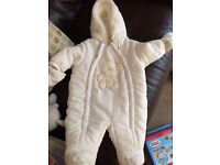 0-3 months baby snow suit