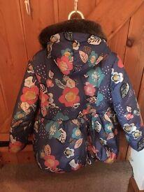 Girls 6-7 M&S Winter Coat
