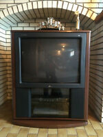 Box TV with turning stand