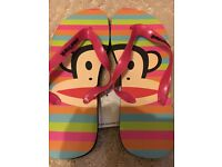 New Paul Frank Flip Flops with Tags