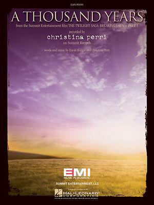 Easy Piano Lyrics - A Thousand Years Song by Christina Perri for Easy Piano Sheet Music Lyrics NEW