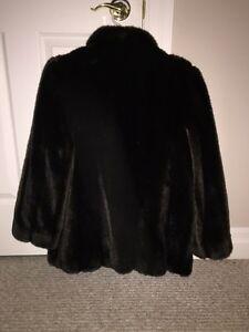 Ladies polyester fur coat