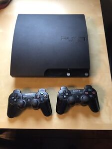 PS3 128gb with 2 controllers