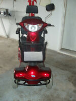 Invacare 4 wheel scooter red