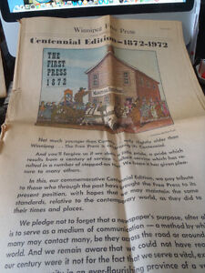 Winnipeg Free Press Centennial Edition   1872-1972