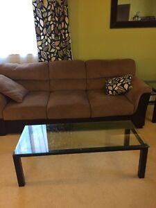3 Glass Coffee Tables with Black Metal Frame London Ontario image 1