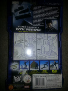 X-MEN UNITED SUPER POSEABLE WOLVERINE WITH BATTLE ACTION BASE!!! London Ontario image 2