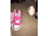 Pink converse trainers size 4