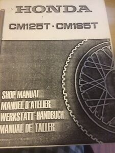 1978 1979 CM125T CM185T CM200T Shop Manual Regina Regina Area image 4
