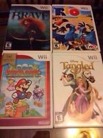 5 wii games in cases