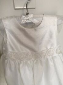 Baby girls christening gown /dress aged 3-6 months
