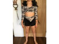 Two Piece Dance Costume - Age 9-11 years