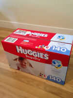 Brand New Huggies Snug & Dry Diaper size 6, 140 count