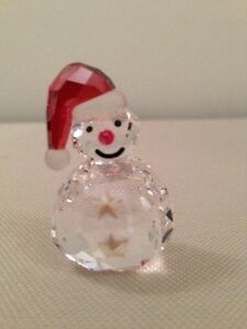 Swarovski Snowman Figurine - Rocks Back And Forth - Brand New