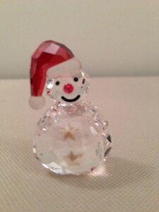 Swarovski Snowman Figurine - Rocks Back And Forth - Brand New