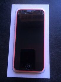 IPHONE 5C PINK BOXED O2