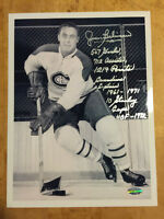 JEAN BELIVEAU Signed Canadiens 8x10 Photo with Full Inscriptions