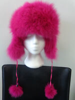 Chapeau vraie fourrure renard Trapper bomber hat real fox fur
