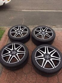Genuine Mercedes 18'' alloy wheels and tyres