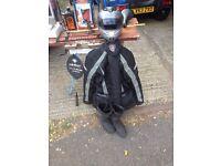 Motorbike helmet jacket and boots