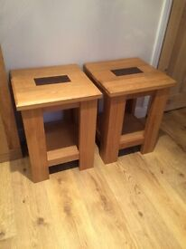 Solid oak side tables - perfect condition - quick sale needed