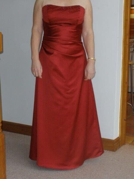 652efbb08 Designer red bridesmaid dress and bolero jacket Size 14 | in Bampton ...