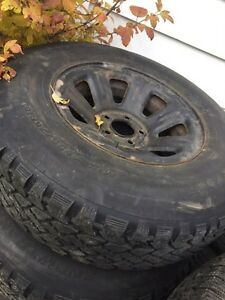"2 sets of 15"" winter tires  235/75 r15"