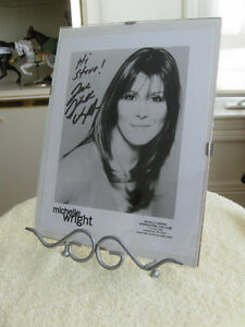 INTERNATIONAL FAN CLUB FRAMED SIGNED PICTURE of MICHELLE WRIGHT
